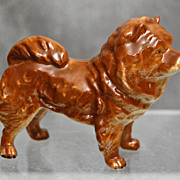 German Porcelain Chow Chow Dog Figurine