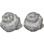 Royal Bayreuth Nautilus Shell Salt & Pepper Shakers, Pair, Blue Mark