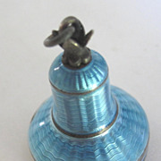 Art Deco Guilloche Enamel bell shaped casing for Antique Watch