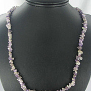 "Chunky Amethyst Nugget 35"" Purple Gemstone Necklace"