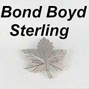 Bond Boyd Sterling Silver Maple Leaf Signed Brooch Pin 925