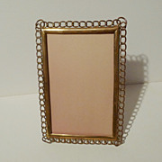19th C. English Brass &quot;Ring&quot; Cabinet Card Frame