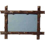 19th C. BLACK FOREST Horizontal/Vertical Walnut Frame