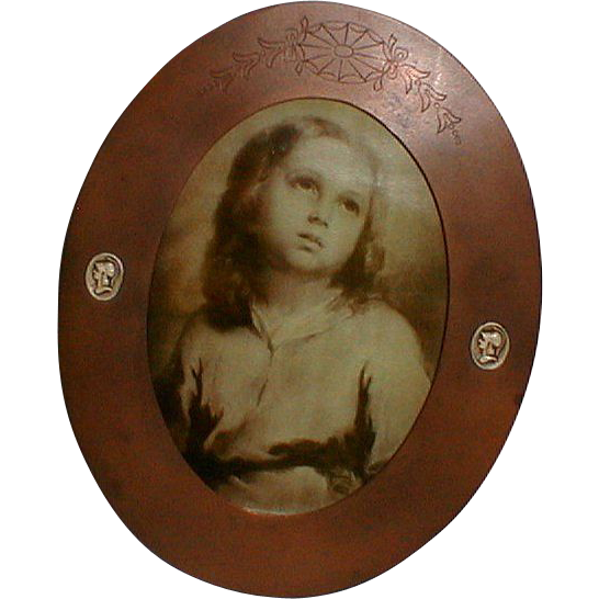 Athenic Bronze ARTS & CRAFTS Oval Frame