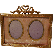 19th C. Miniature Gold-Plated French HORIZONTAL Frame