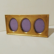 &quot;POSTAGE STAMP&quot; Horizontal Brass 3-Opening Frame