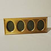 &quot;POSTAGE STAMP&quot; Horizontal Brass 4-Opening Frame