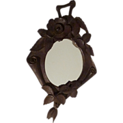 19th C. BLACK FOREST Walnut Carved Frame