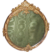 19th C. French DORE BRONZE Round Picture Frame