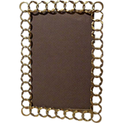 Antique English Brass Patterned RING Photograph Frame