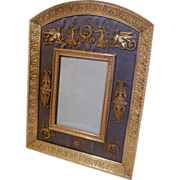 Dore French BRONZE Frame w/Silk and Ornaments