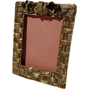 &quot;Postage Stamp&quot; Miniature Basketweave Frame ca. 1900