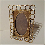 ANTIQUE English Brass &quot;RING&quot;  Frame 5 1/2&quot; with Spandrel Insert