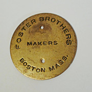 Original  FOSTER BROS.   Picture Frame Medallion
