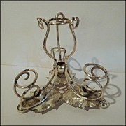 Vintage Silverplated EPERGNE Base w/Leaves