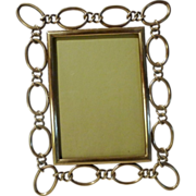 English Brass Oval RING Frame 8 3/4&quot; Tall
