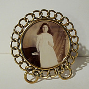 D.R.G.M. 5 1/2&quot; Round Brass RING Frame