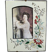 Fabulous Napoleon III Enameled Floral Frame