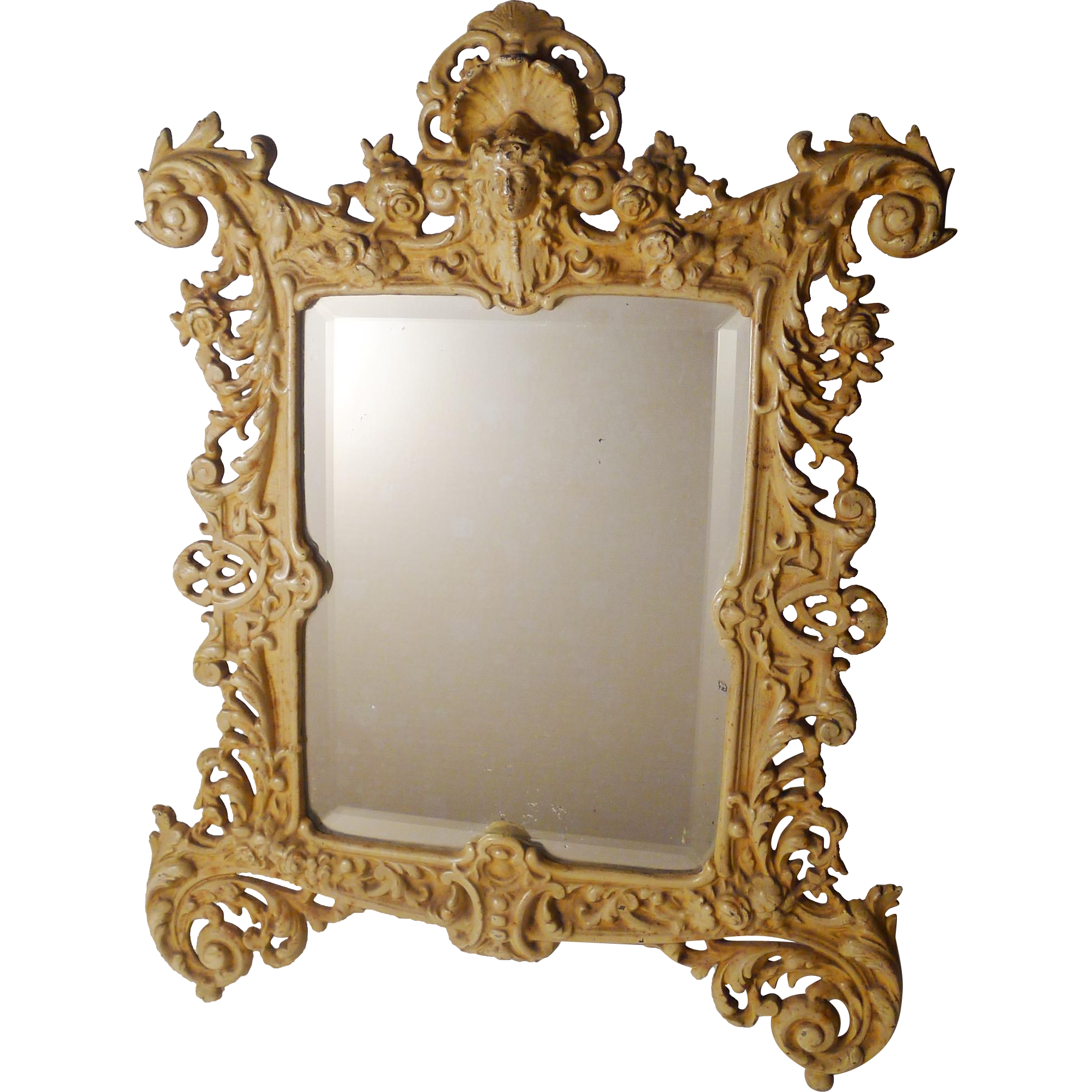 Bradley Hubbard Painted Iron Frame With Mirror 16 5