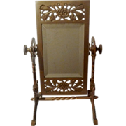 Fabulous AESTHETIC MOVEMENT Brass Swivel Mirror
