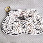SOLD Beaded Clutch Purse, Vintage