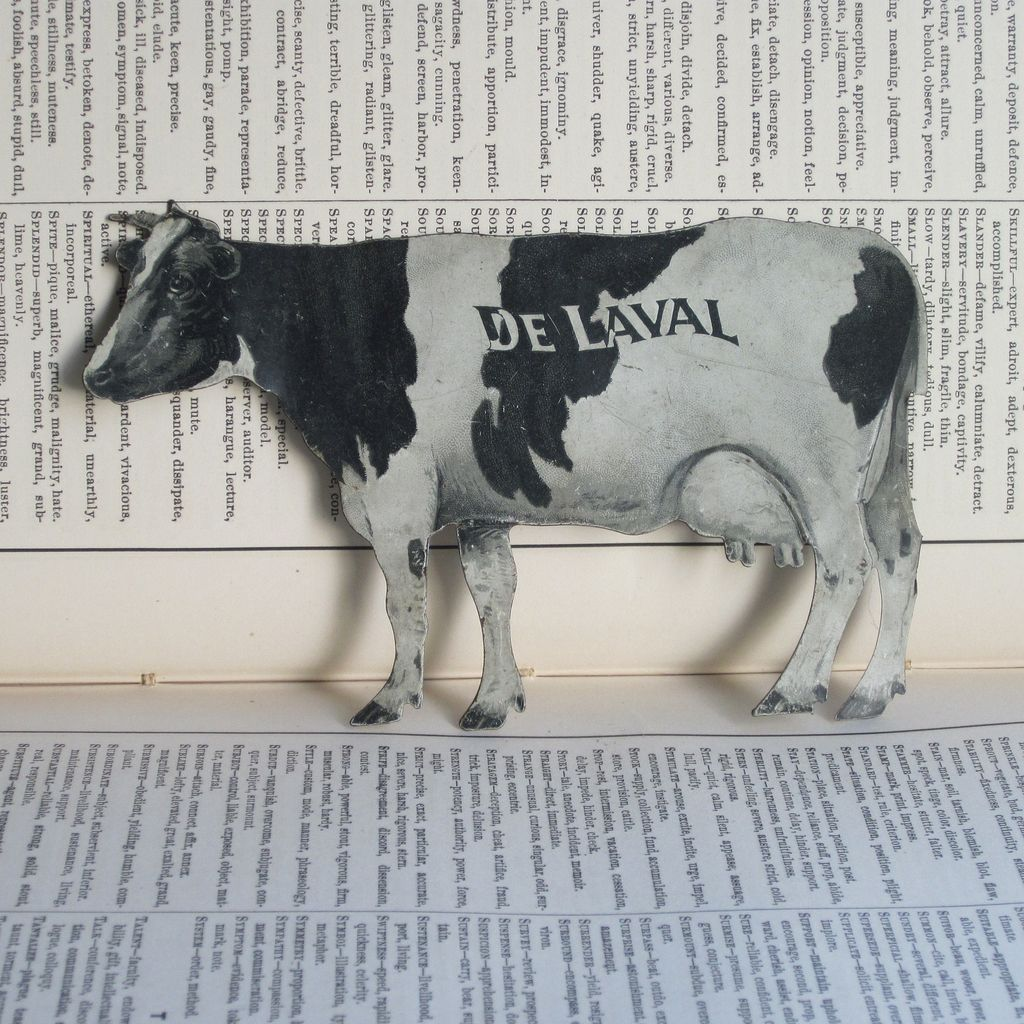 De Laval Cream Separators Tin Cow Advertisement