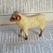 REDUCED Vintage Hard Plastic Sheep or Ram Nylint Hong Kong Farm Animal