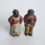 Aunt Jemima and Uncle Mose Hubley Cast Iron Still Bank Black Americana