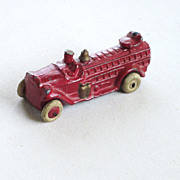 Metal Red Fire Truck Toy