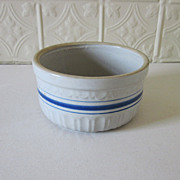 Stoneware Blue Band Bowl Cream Crock