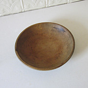 Wood Dough Bowl Hand Turned Vintage