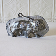 REDUCED Antique Lion Chocolate Mold Tin #3718
