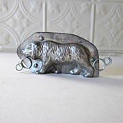REDUCED Antique Letang Fils Walking Bear Chocolate Mold