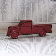Rubber Toy Truck Original Red Paint Vintage Baby Toy