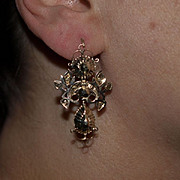 Exceptional 17th Century Diamond Drop Earrings