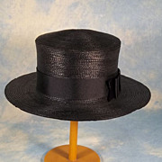 SALE PENDING Gage Bros. Edwardian Straw Boater Ladies Vintage Hat