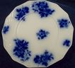 Flow Blue Bread Plate:Grindley: Gironde