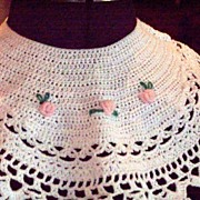 Vintage Crocheted Dress Collar