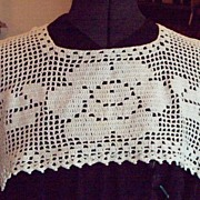 SOLD Vintage Ecru Crocheted Dress Collar
