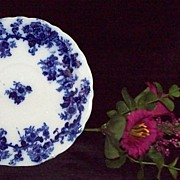 19th Century Flow Blue Saucer: New Wharf Pottery: Lancaster