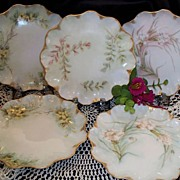 SOLD Antique Limoges Dessert Dishes: Jean Pouyat Limoges (JPL France) @1891