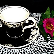 SOLD Demitasse Cup and Saucer:  George Jones & Sons: Marlborough
