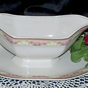 "Gravy Boat with attached Under Plate:W. H. Grindley: ""The Excelsior"""