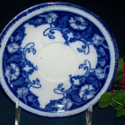 "SOLD 19th Century Flow Blue Saucer: Alfred Colley: ""Paris"""