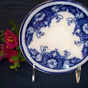 "19th Century Flow Blue Saucer: Alfred Colley: ""Paris"""