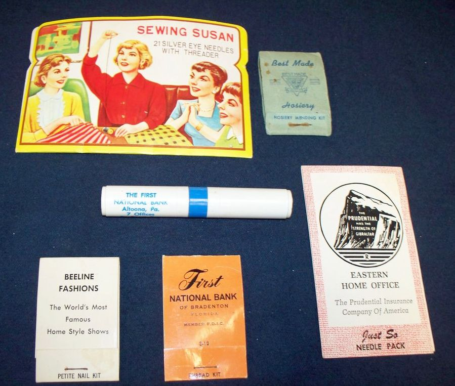 Collectible Advertising Packets: Sewing: Hosiery: Nails: Needle Pack