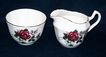 Royal Windsor Porcelain Creamer and Sugar: England: Hand-Painted, Signed