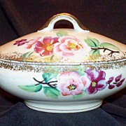 Vintage Children's China Soup Tureen w/Lid: Hand Painted: Numbered