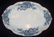 Vintage Blue Transferware Oval Serving Dish: Edwin Knowles