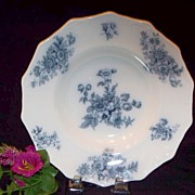 """Chatsworth"" Grindley Flow Blue Soup Bowl : Staffordshire"